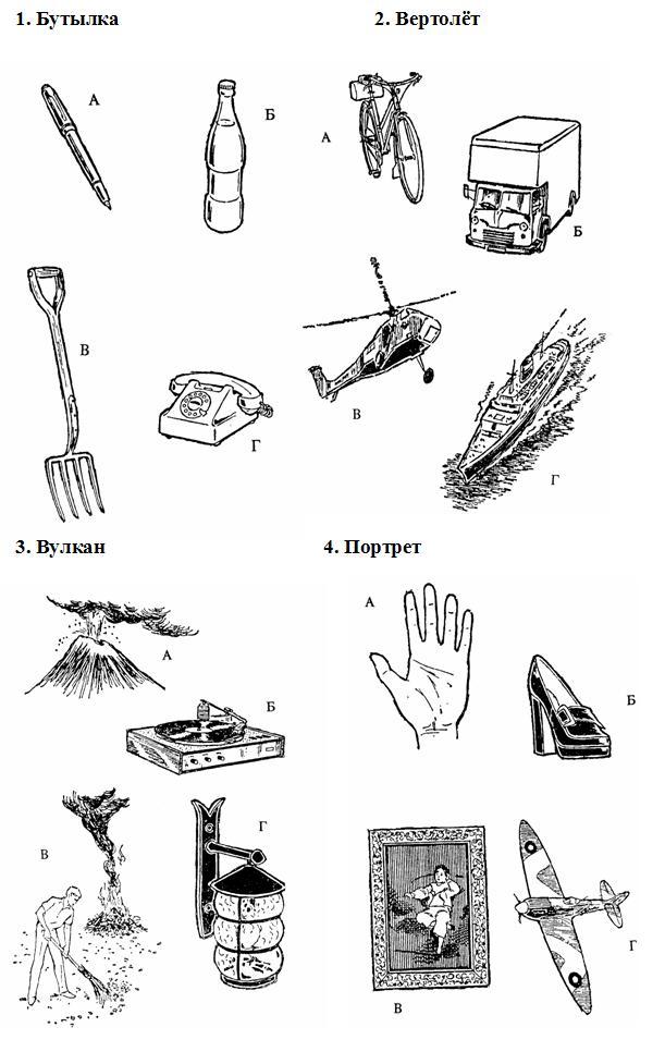 лурия тест пиктограмма: